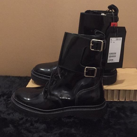 7af48a18222 Balmain Shoes   Nwt Mens X Hm Black Patent Cuff Boot 75   Poshmark